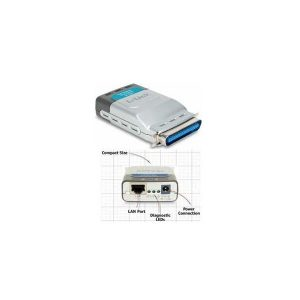 DLINK 10/100MBPS POCKET SIZE PRINT SERVER FOR PARALLEL PRINTER