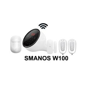 SMANOS WiFi/PSTN Phone Line Smart Alarm System W100